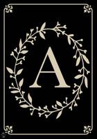 Classic Monogram Letter A Garden Flag