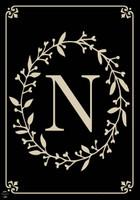 Classic Monogram Letter N Garden Flag