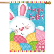 Bunny and Eggs House Flag