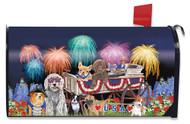 Patriotic Pups Mailbox Cover