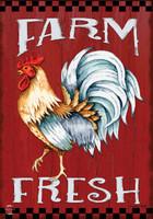 Farm Fresh Rooster Garden Flag