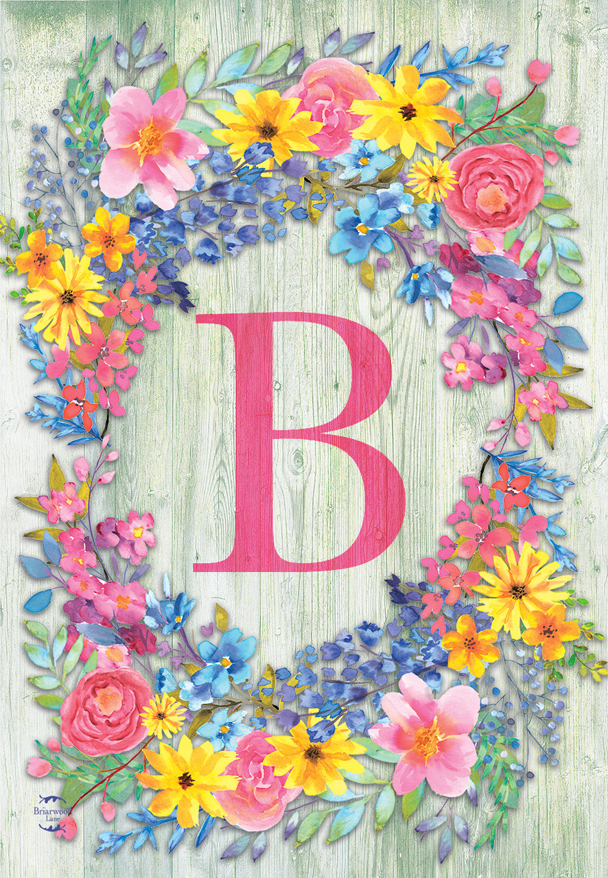 Home Garden Yard Garden Outdoor Living Letter W Floral