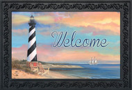Coastal Lighthouse Summer Doormat