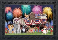 Patriotic Pups Doormat