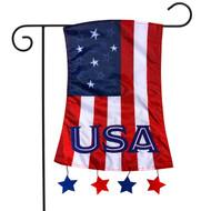 Patriotic Applique Garden Flag