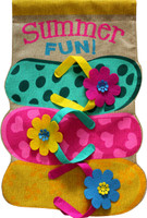Summer Fun Flip Flops Burlap House Flag