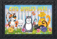 Cats Spoiled Here Doormat