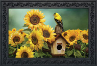 Goldfinch and Sunflowers Doormat