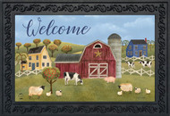 Spring Countryside Welcome Doormat