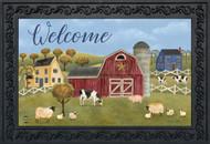 Spring Countryside Welcome Doormat