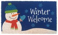 Welcome Winter Snowman Coir Doormat (Case Pack - 4)