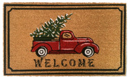 Christmas Truck Coir Doormat (Case Pack - 4)