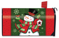 Snowman and Birdhouse Mailbox Cover