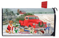 Holiday Dogs Mailbox Cover