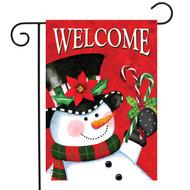 Christmas Snowman Garden Flag