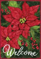 Holiday Poinsettia Garden Flag