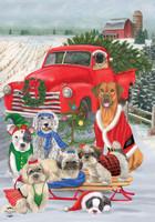 Holiday Dogs Garden Flag
