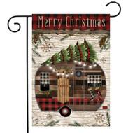 Merry Christmas Camper Primitive Garden Flag