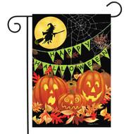 Halloween Haunts Garden Flag