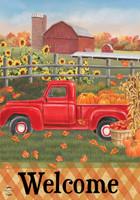 Fall Farm Welcome Garden Flag