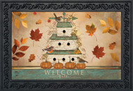 Welcome Fall Birdhouse Doormat