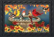 Fall Birdbath Doormat