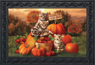 Fall Kittens Doormat