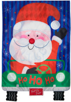 Santa's Delivery Applique Garden Flag