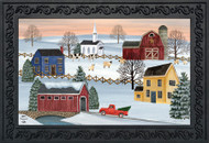 Winter Saltboxes Doormat