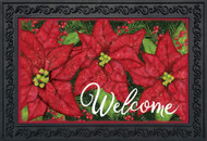 Holiday Poinsettia Doormat