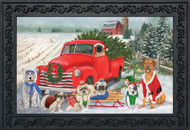 Holiday Dogs Doormat