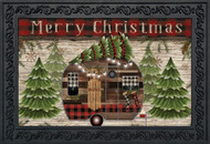 Merry Christmas Camper Primitive Doormat