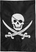 Pirate Jack Applique & Embroidered House Flag