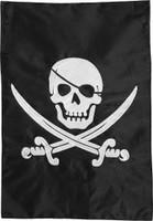 Pirate Jack Applique & Embroidered Garden Flag