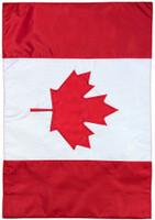 Canada Applique & Embroidered Garden Flag