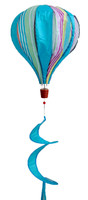 Blue Striped Deluxe Hot Air Balloon Wind Twister