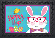 "Hippity Hop Bunny Easter Doormat Chick Humor Indoor Outdoor 18"" x 30"""