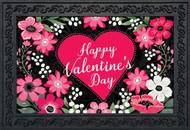 Happy Valentine's Floral Doormat