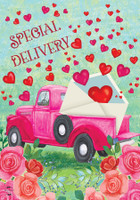 Valentine's Delivery House Flag