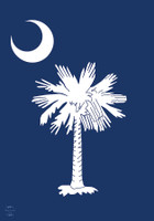 South Carolina Palm Tree House Flag