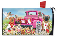Happy Valentine's Dogs Mailbox Cover