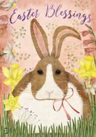 Easter Blessings Bunny House Flag