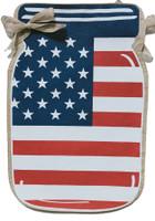 Patriotic Mason Jar Burlap Garden Flag