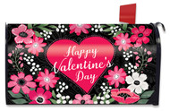 Happy Valentine's Floral Mailbox Cover