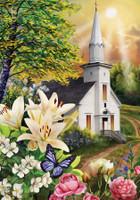Spring Church Garden Flag
