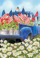 All American Truck Garden Flag