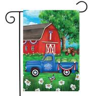 Sunshine Barn Garden Flag
