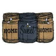 Home Sweet Home Mason Jars Coir Doormat (Case Pack - 4)