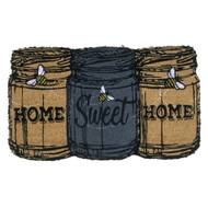 Home Sweet Home Mason Jars Coir Doormat (Case Pack - 4)