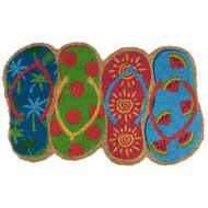 Flip Flops Coir Doormat (Case Pack - 4)